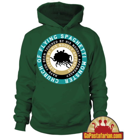 Have you been touched by his noodly appendage   Pastafarian Hoodies
