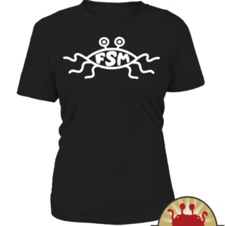 Flying Spaghetti Monster church sign on Pastafarian Tank tops women