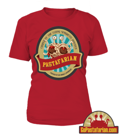 Church of the flying spaghetti monster   Pastafarian Women T shirts