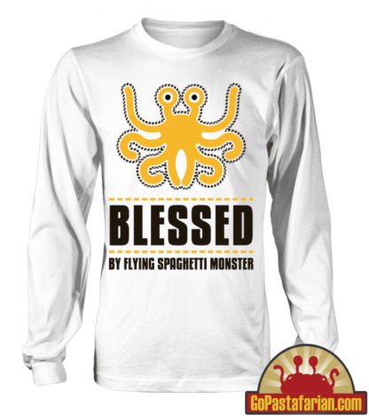 Blessed by Flying Spaghetti Monster   Pastafarian sweater