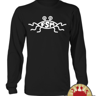 Flying Spaghetti Monster church sign on Pastafarian Sweaters