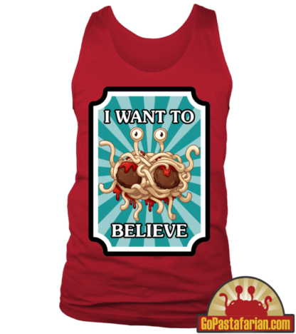 I want to believe in Flying Spaghetti Monster Pastafarian Tanks