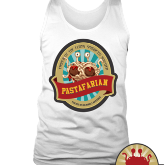 Get sauced and be touched   Pastafarian Unisex tanks